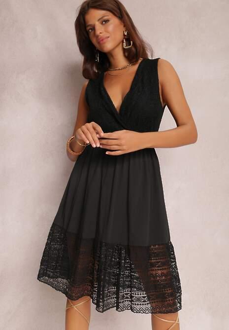 Czarna Sukienka Crethypise