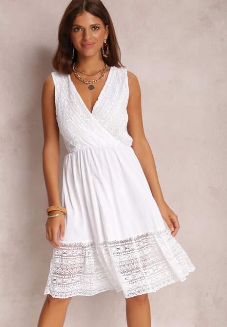 Biała Sukienka Crethypise
