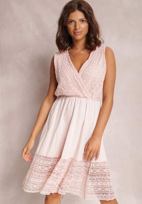 Różowa Sukienka Crethypise