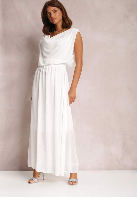 Biała Sukienka Kaliphea