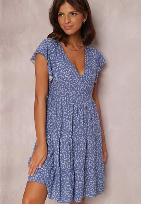 Niebieska Sukienka Misis