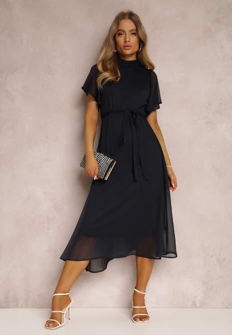 Granatowa Sukienka Syrissis