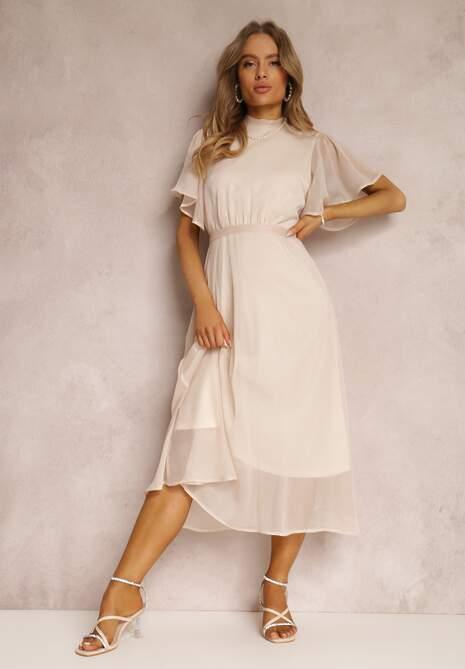 Beżowa Sukienka Syrissis