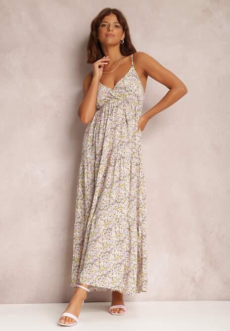 Liliowa Sukienka Gallur