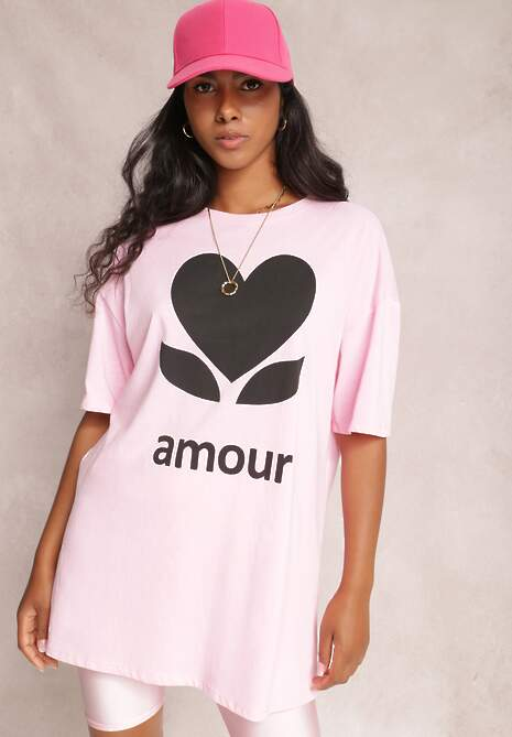 Różowy T-shirt Levenolda