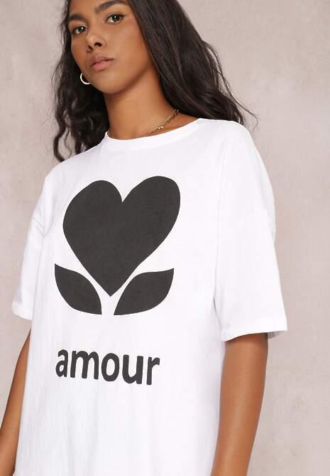 Biały T-shirt Levenolda