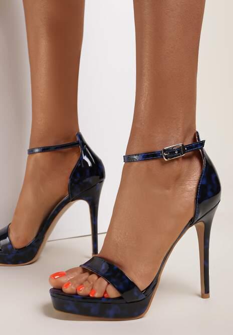 Czarno-Niebieskie Sandały Kerstyl