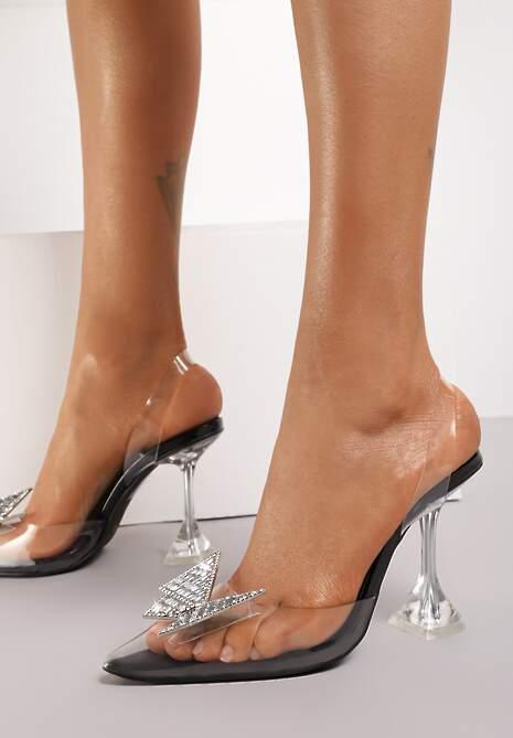 Czarne Sandały Viantho