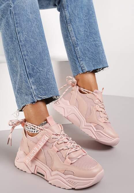 Różowe Sneakersy Annifer