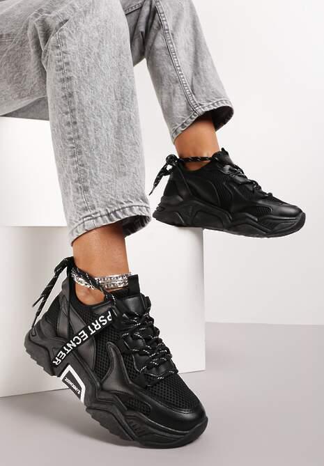 Czarne Sneakersy Annifer