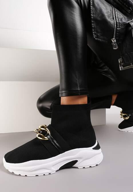 Czarne Sneakersy Bostyl