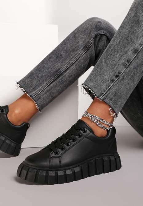 Czarne Sneakersy Osen