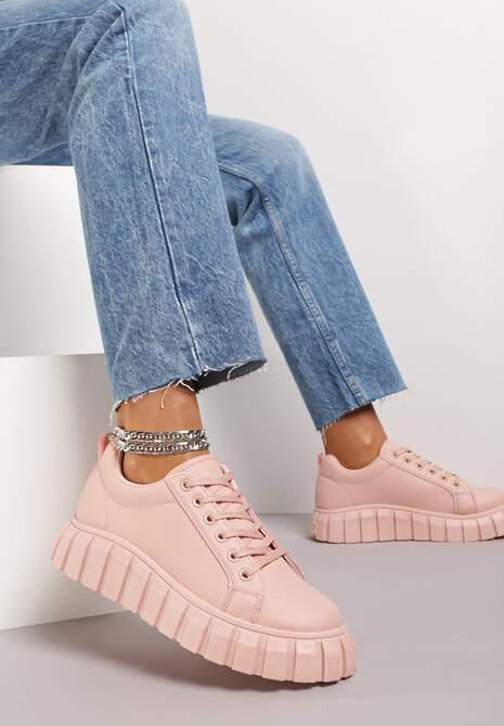 Różowe Sneakersy Osen
