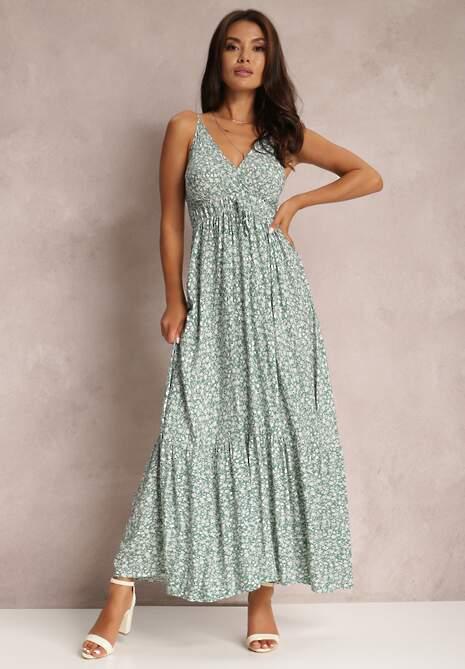 Zielona Sukienka Konnennig