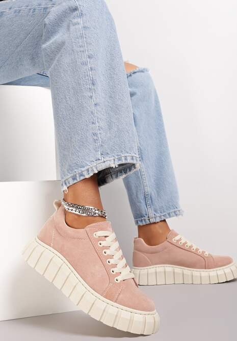 Różowe Sneakersy Hiardixa