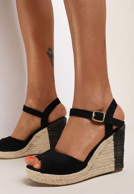 Czarne Sandały Dememon