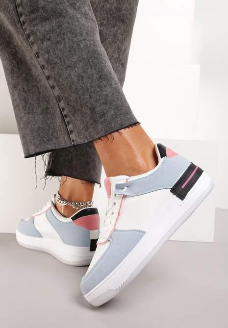 Biało-Niebieskie Sneakersy Dusna