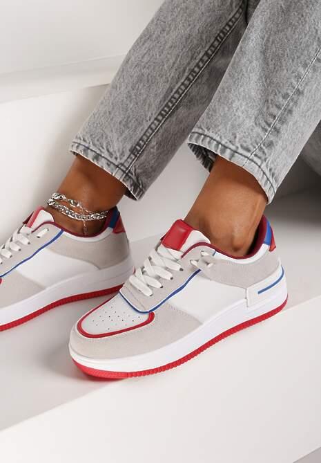 Biało-Szare Sneakersy Dusna