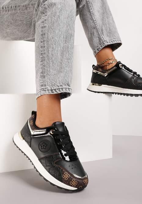Czarne Sneakersy Ruxisdea