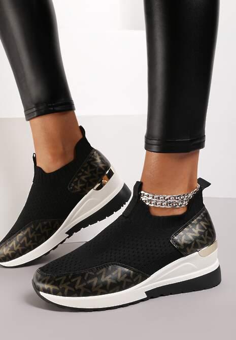 Czarne Sneakersy Chruspe