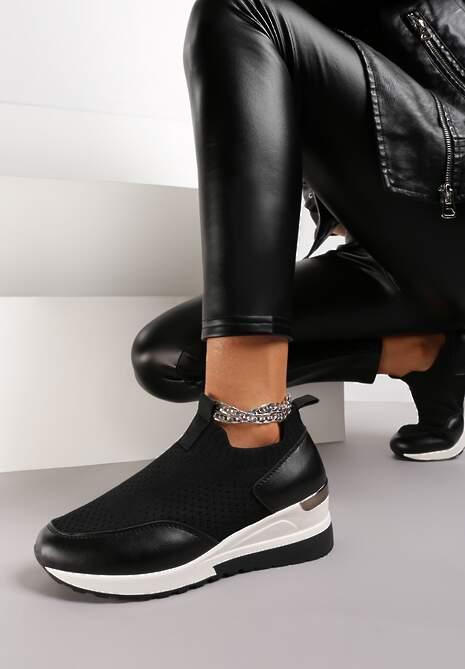 Czarne Sneakersy Molaestro