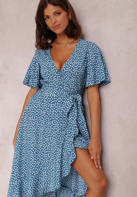 Niebieska Sukienka Zinano