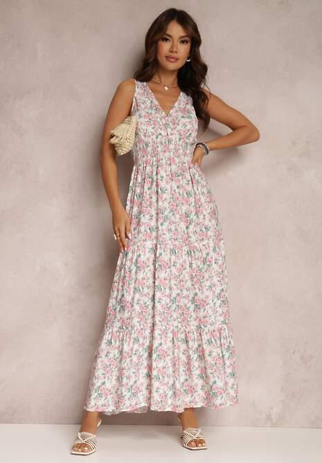 Biała Sukienka Rentiro