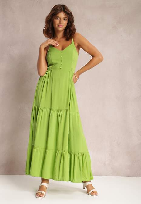 Jasnozielona Sukienka Phiziva