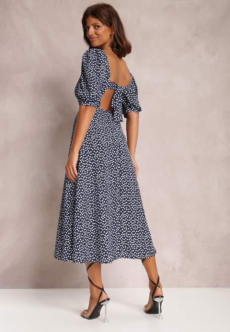 Granatowa Sukienka Reintore