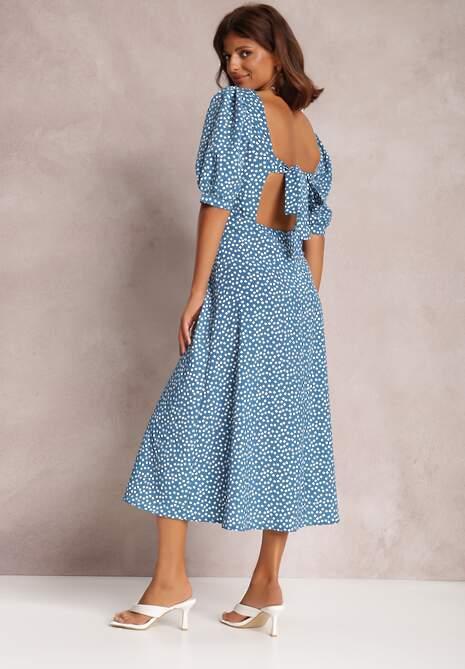 Niebieska Sukienka Reintore