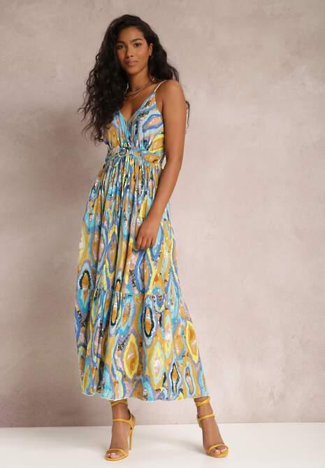 Niebieska Sukienka Trerria