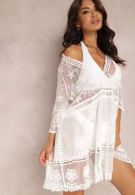 Biała Sukienka Leuseis