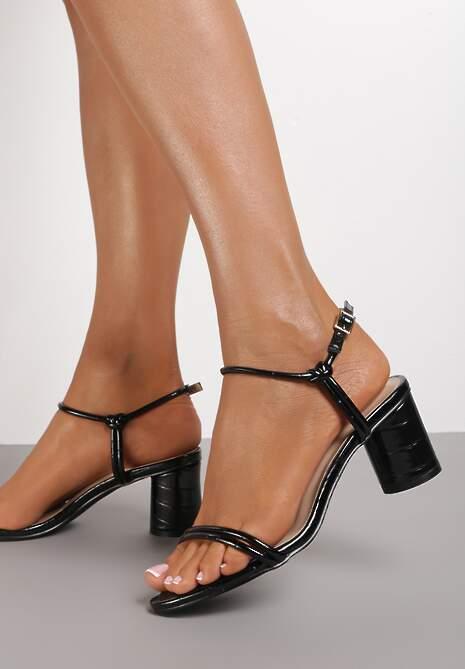 Czarne Sandały Mereri