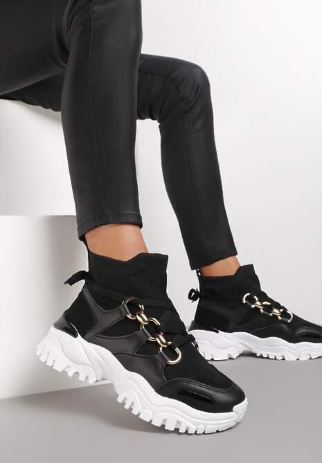 Czarne Sneakersy Gwenena