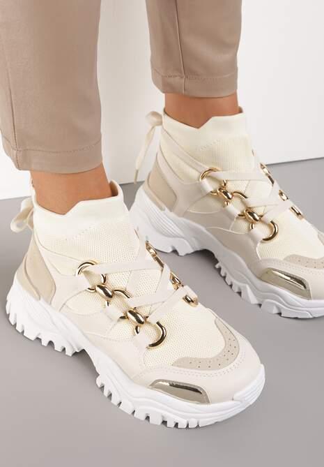 Beżowe Sneakersy Gwenena