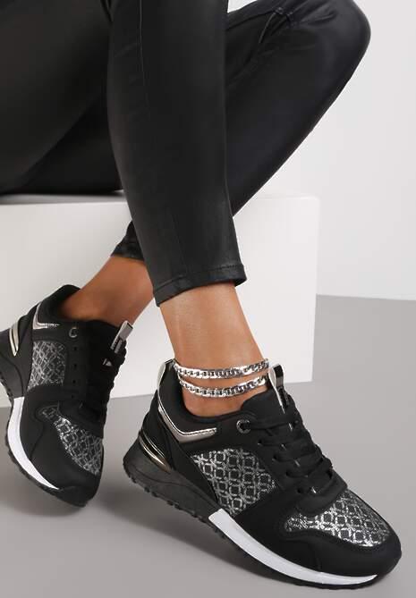 Czarne Sneakersy Hiamoscea