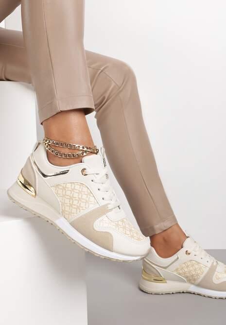 Beżowe Sneakersy Hiamoscea
