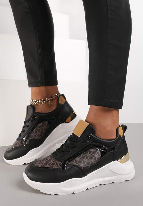 Czarne Sneakersy Finaza