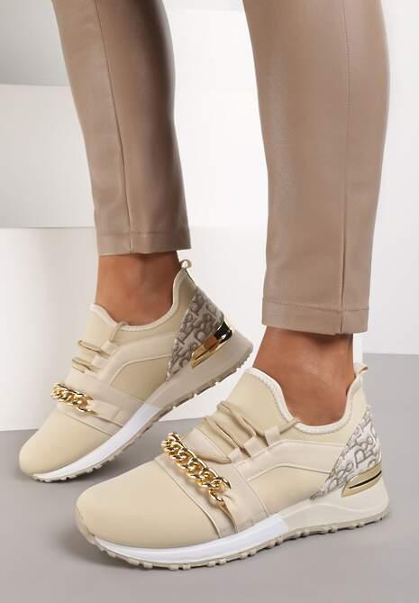Beżowe Sneakersy Guinigan