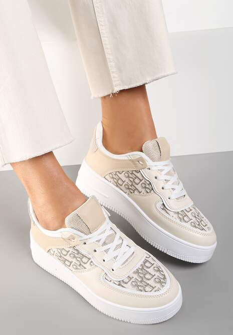 Beżowe Sneakersy Chethive