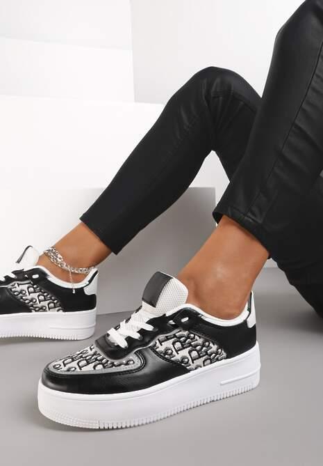 Czarne Sneakersy Chethive