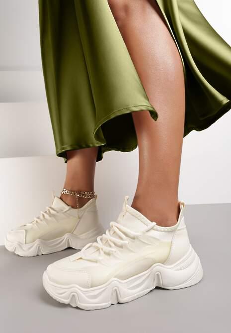 Beżowe Sneakersy Emou