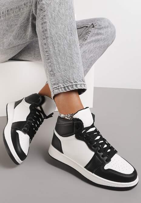 Czarno-Białe Sneakersy Dodnusea