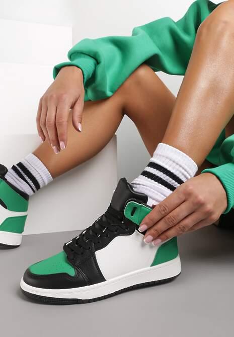 Biało-Zielone Sneakersy Dodnusea