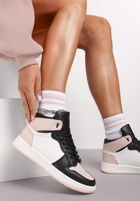 Czarno-Różowe Sneakersy Dodnusea