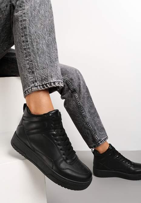 Czarne Sneakersy Argyros