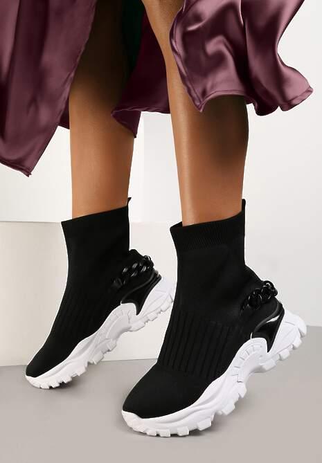 Czarne Sneakersy Ephaen