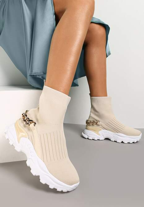 Beżowe Sneakersy Ephaen