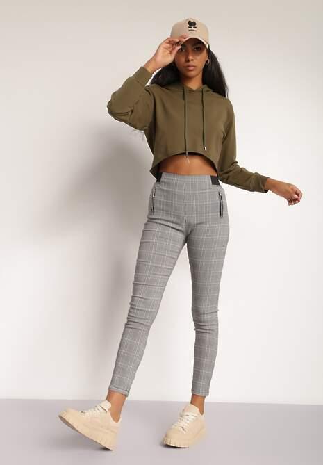 Szare Spodnie Skinny Metiosis