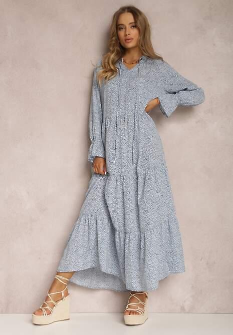 Niebieska Sukienka Ilwena